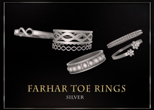 FarharToeRings_Silver