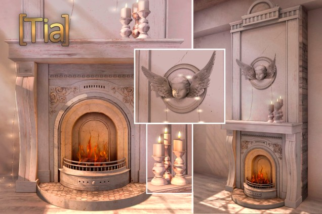 [Tia] Lil' Maison Fireplace - FlickerBlog