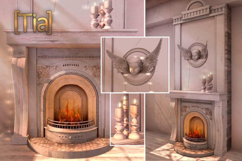 [Tia] Lil' Maison Fireplace - FlickerBlog